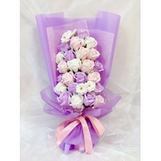 Purple Cascading Soap Flower Bouquet