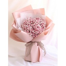 Pink and White Baby's Breath Bouquet