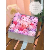 Pink and Purple theme Soap Flower Gift Box