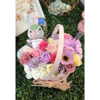 Spring Soap Flower Basket Gift