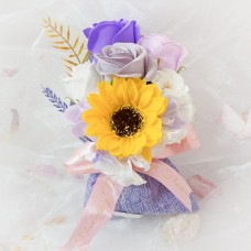 Summer/Spring Soap Flowers in Purple Sachet
