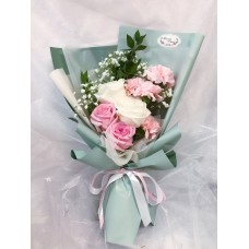 Elegant Pink and White Themed Flower Bouquet