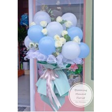 Whimsical Balloon and Rose Bouquet
