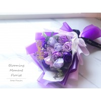 Purple Themed Soap Rose Bouquet