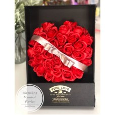 Red Soap Rose Heart Gift Box