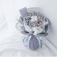 Blue and Pink Baby's Breath Bouquet