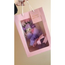 Pink and Royal blue Birthday Soap Flower Bouquet