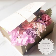 Colorful Soap Flowers In Gift Box with Secret Message