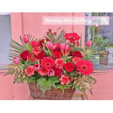 Red Flower Grand Opening Basket