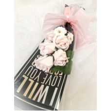Pink Soap Rose Declaration of Love Bouquet