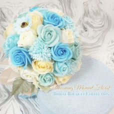 Light Blue Theme Soap Flower bridal bouquet