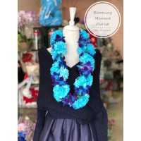 Blue Orchid and Carnation Lei