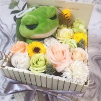 Travel Frog Bright Soap Flowers Gift Box