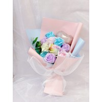 Blue and Purple Summer Soap Flowers Bouquet