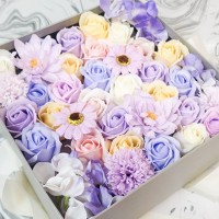 Spring Flowers in Beautiful Square Gift Box