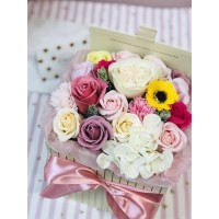 Soap Flower Arrangement Gift Box
