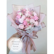 Blushing Pink Soap Flower Bouquet