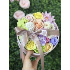 Spring Soap Flowers Round Gift Box