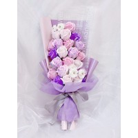Purple Soap Rose Bouquet