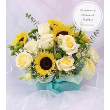 Grand Opening Yellow Flower Gift Basket