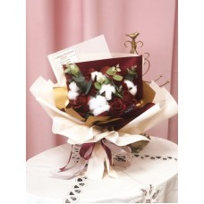 Wine Red Soap Rose Bouquet