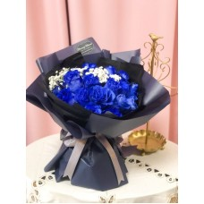 Elegant Blue Rose Bouquet