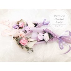 Mini Soap Flower Bouquet with Dried Flowers
