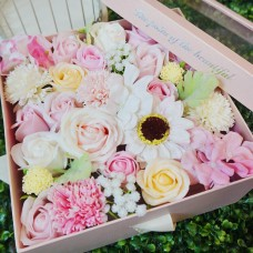 Light Pink Square Gift Box